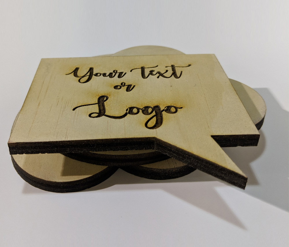 Call Out Shape Wood Coasters