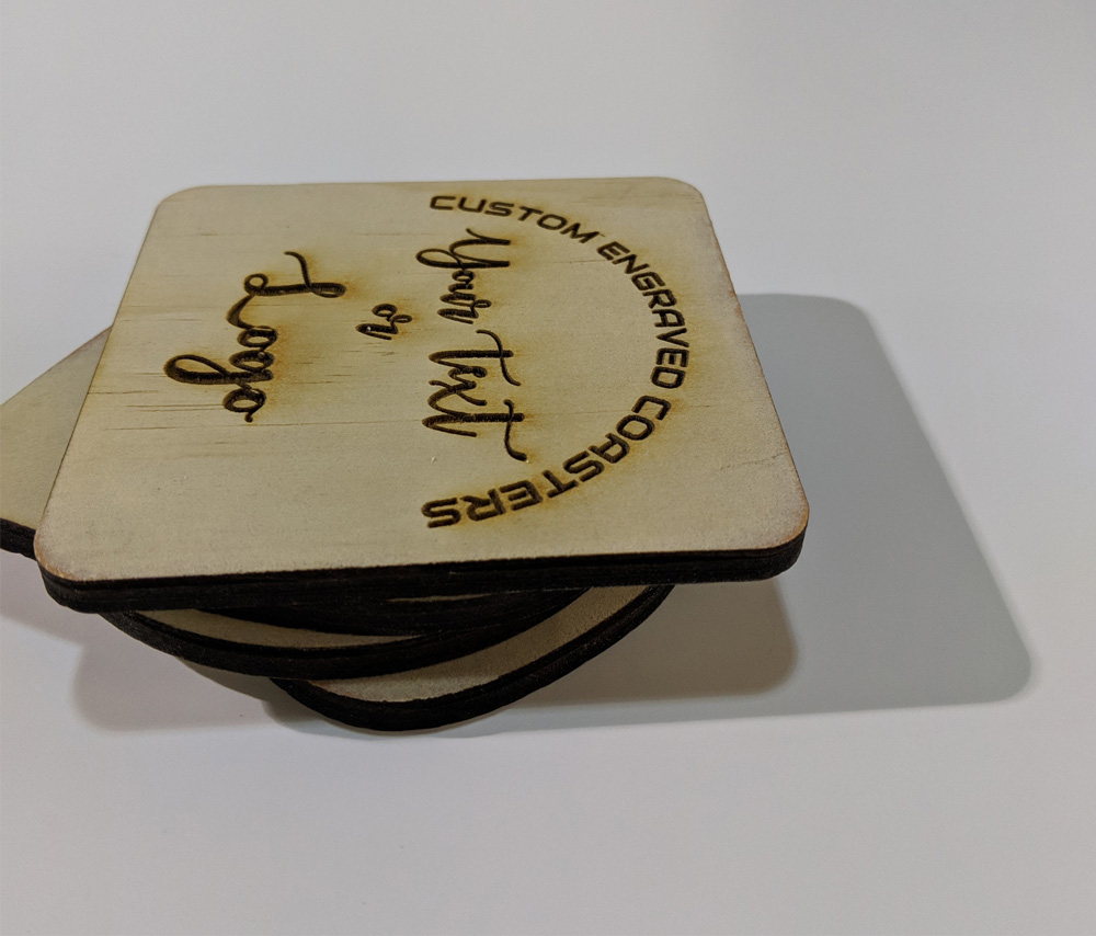 Rectangle Shape Wood Coasters